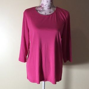 CJ Banks Pink 3/4 Sleeve Top - Size X (New!)